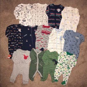Baby boy lot: Newborn Sleepers